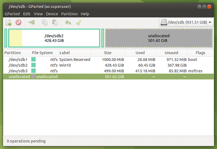 Macrium Reflect Free adds a second Recovery partition when I restore-screenshot-dev-sdb.png