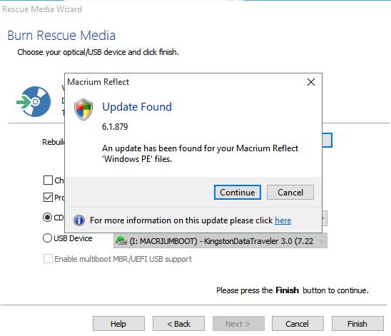 Macrium Reflect Windows PE files update? Solved - Windows 10 Forums