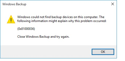Create System Image - Windows could not find backup devices-error.jpg