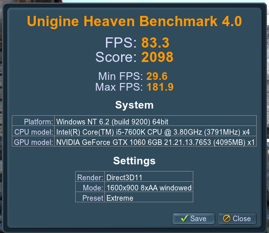 Click image for larger version.  Name:Heaven Extreme benchmark.png Views:36 Size:57.7 KB ID:122626