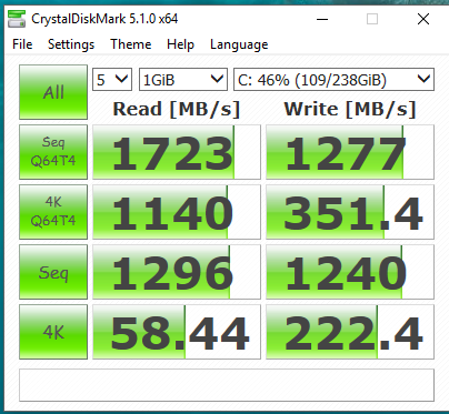 Samsung SM951 NVMe driver 2.2.0.1703 .PNG