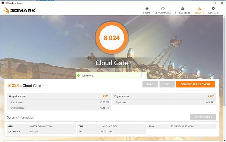 3D Mark Cloud Gate - Page 4 - Windows 10 Forums