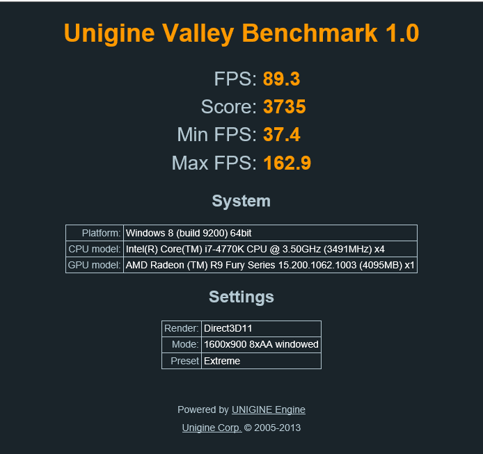 Click image for larger version.  Name:Unigine Bench.PNG Views:12 Size:27.8 KB ID:32701