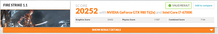 Click image for larger version.  Name:NVIDIA GeForce GTX 980 Ti video card benchmark result   Intel Core i7 6700K ASUSTeK COMPUTER INC.png Views:2 Size:124.9 KB ID:57937