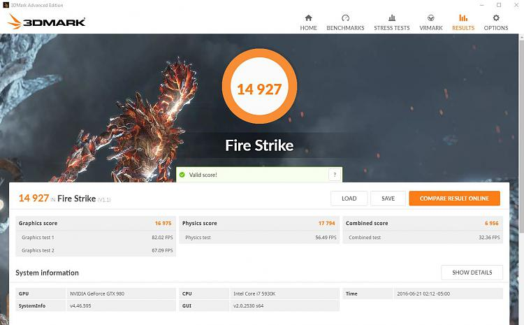 Click image for larger version.  Name:Fire Strike 14927.JPG Views:2 Size:114.5 KB ID:86089
