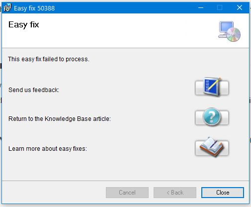Cannot use links from emails in Outlook, MS Office 2010-easy-fix-failure.jpg
