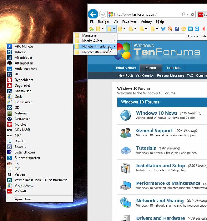 IE11 default orientation of menus Solved - Windows 10 Forums