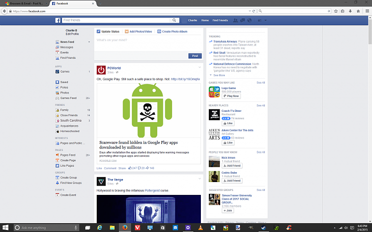 facebook chat box solved windows 10 forums