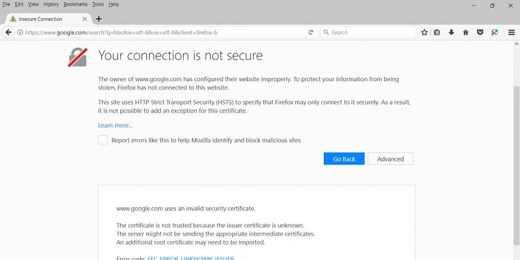 keep getting insecure websites message with latest Mozilla Firefox-snap1.jpg