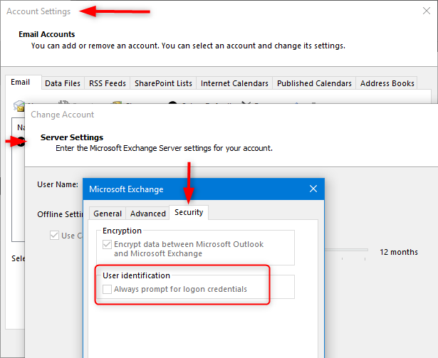 how to change password outlook windows 10