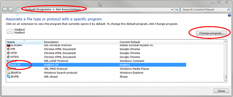 How To Change MAILTO: Protocol To OEClassic or Thunderbird? (W10CE