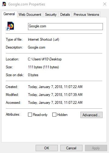 Click image for larger version.  Name:Internet desktop shortcut, no shortcut tab.jpg Views:6 Size:39.1 KB ID:171355