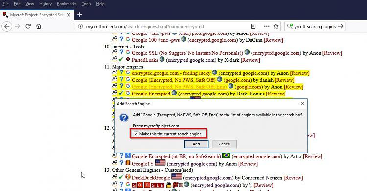 Click image for larger version.  Name:Mycroft Project_ Encrypted Search Engine Plugins - Firefox IE Chrome.jpg Views:2 Size:114.8 KB ID:171607