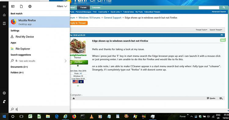 Click image for larger version.  Name:Firefox in Start search.JPG Views:4 Size:110.4 KB ID:181318