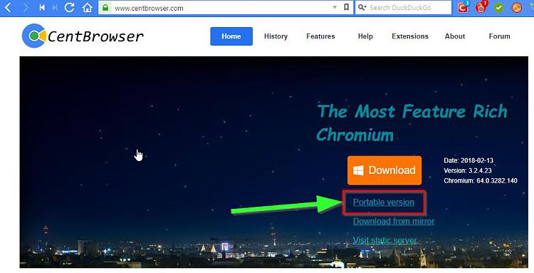 Click image for larger version.  Name:CentBrowser - The Most Feature Rich Chromium.jpg Views:1 Size:59.9 KB ID:182332