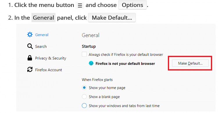 Firefox not showing up in default apps Solved - Windows 10 Forums