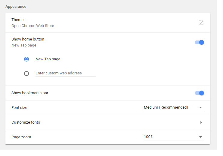 Latest Google Chrome released for Windows-chrome-appearance.png