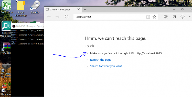 Edge browser can't access LOCALHOST type of IP addresses (build