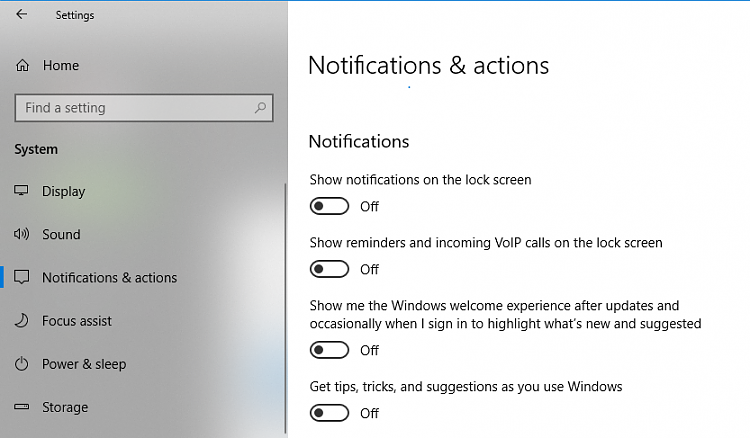 Click image for larger version.  Name:Notifications and Actions.PNG Views:3 Size:174.5 KB ID:199811