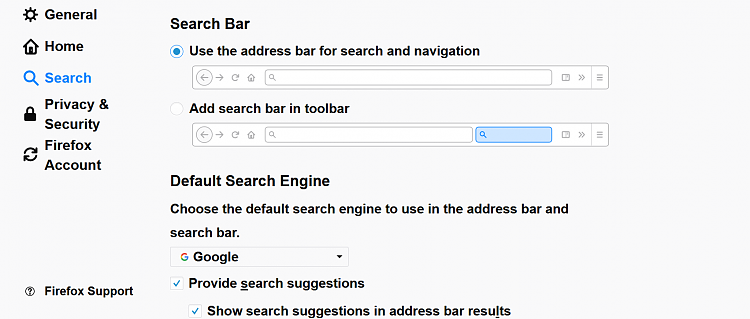 Using Bing in Firefox Address Bar Search Solved - Windows 10 Forums