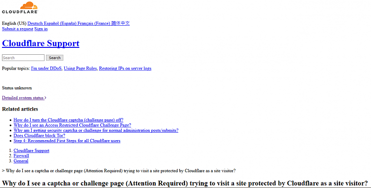 One website displays as text on 3 browsers-cloudfare-before.png