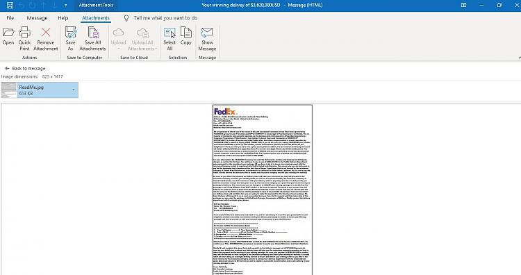 How to view email of Windows mail in MS Outlook Windows 10-vista-email-opened-outlook.jpg