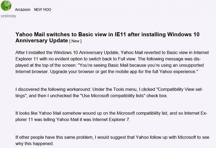 Yahoo email - Page 2 - Windows 10 Forums