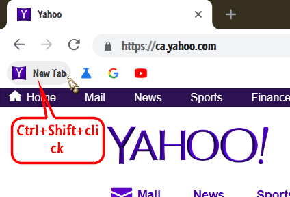 The Plus function /new tab has changed, it does not take me to yahoo-001542.png