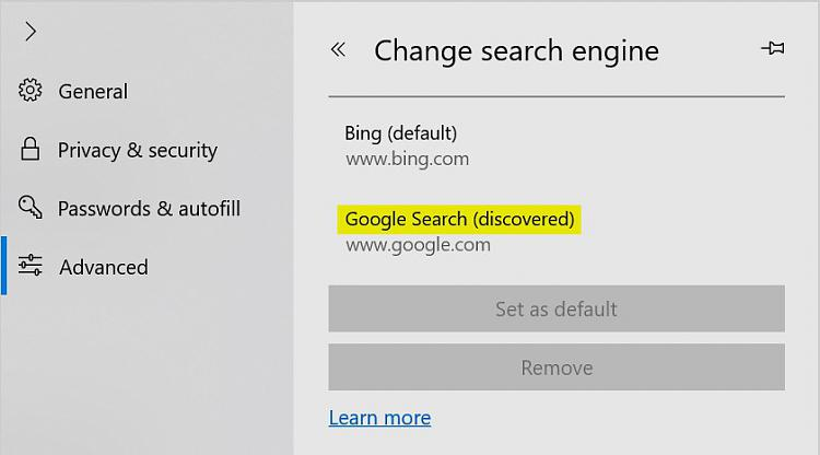 Click image for larger version.  Name:Edge search engine discovered.jpg Views:2 Size:42.8 KB ID:231916