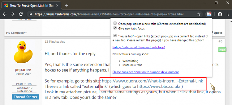 How To Force Open Link In Same Tab In Google Chrome - Windows 10 Forums