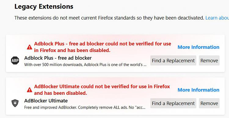 Firefox has deleted all extensions and won't reload them