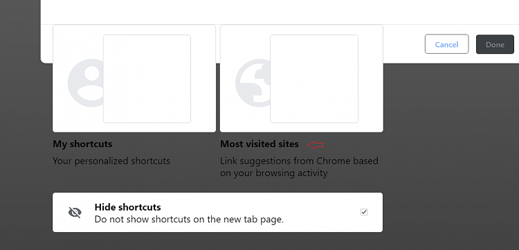 Latest Google Chrome released for Windows-ntp-menu.png