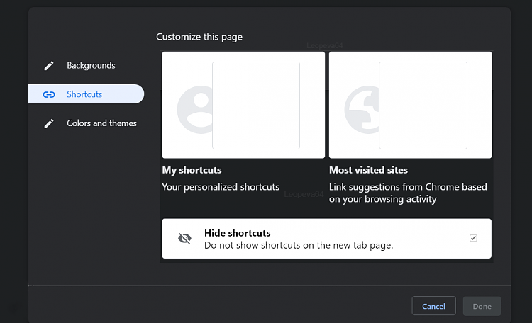 Latest Google Chrome released for Windows-ntp-menu-5-wat.png
