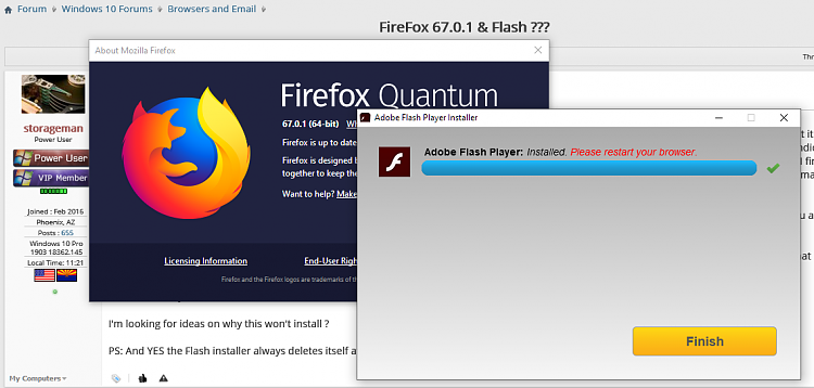 FireFox 67 0 1 & Flash ??? Solved - Windows 10 Forums