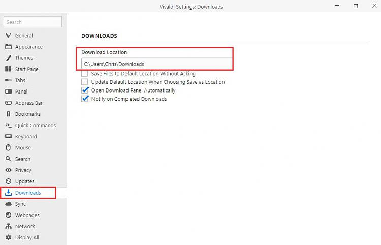 Click image for larger version.  Name:Vivaldi Settings_ Downloads.jpg Views:2 Size:41.4 KB ID:240384