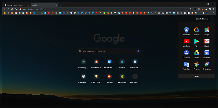 Latest Google Chrome released for Windows-ntp-canary-44.png