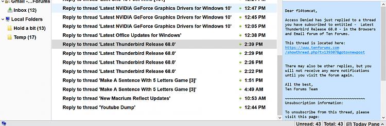 Latest Thunderbird Release 68 0 - Windows 10 Forums