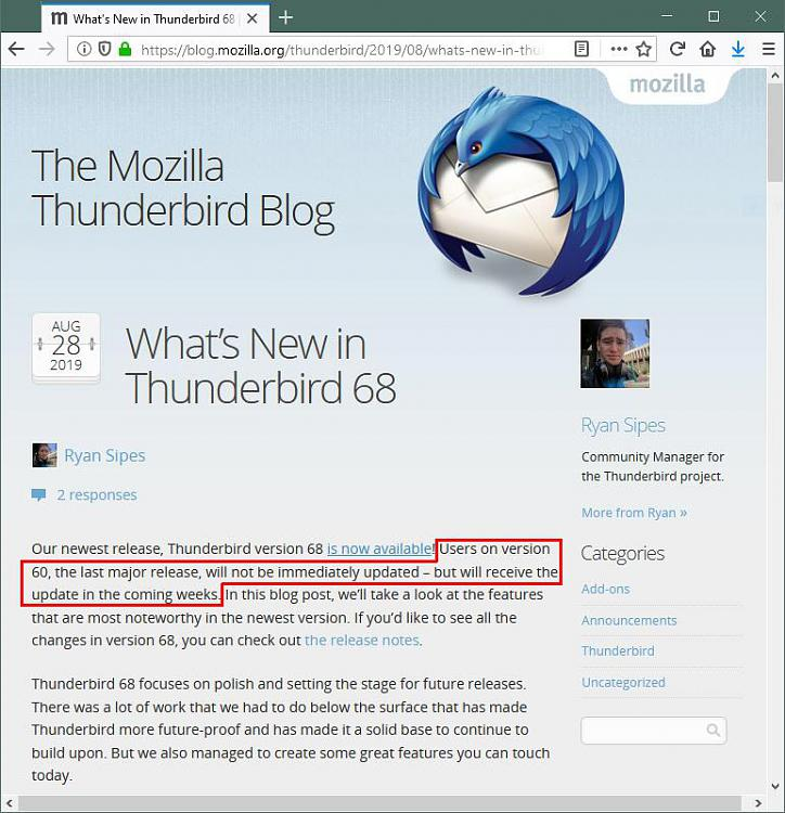 Click image for larger version.  Name:ThunderbirdNewestRelease.jpg Views:1 Size:130.0 KB ID:246699