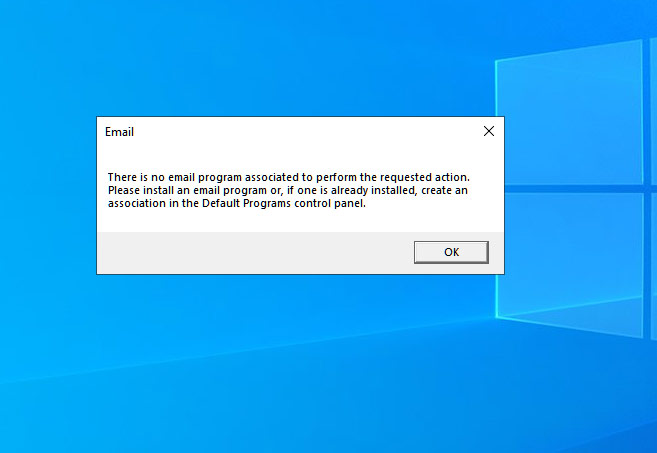 There Is No Email Program Associated With The Requested Action Solved Page 2 Windows 10 Forums