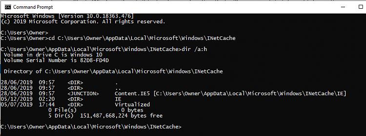 Windows 10 Internet Explorer Content.IE5 folder, unable to access.-image.png