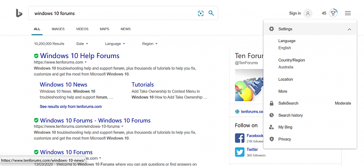 How to remove history in address bar in Edge?-bing-search-settings.png