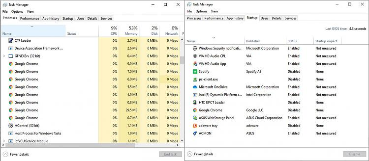 After I disabled Chrome from startup, it starts up with 8 processes-programs.jpg