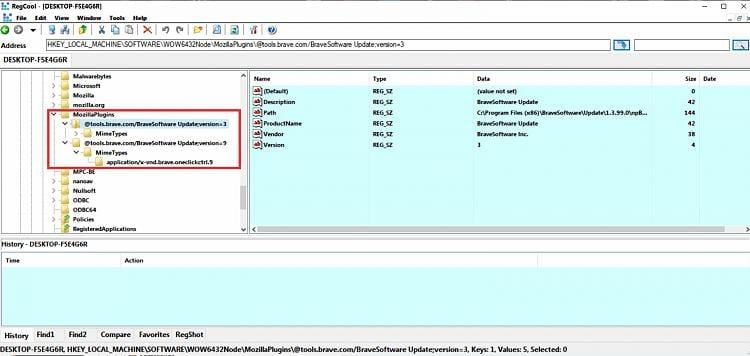 Brave: Need some clarification on Remote Debugging option.-registry-editor.jpg