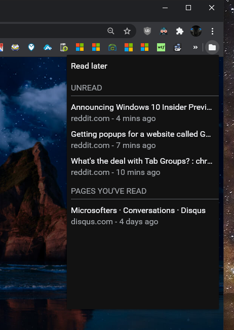 Latest Google Chrome released for Windows-read-later-menu.png