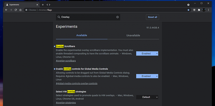 Latest Google Chrome released for Windows-overlay-flag.png
