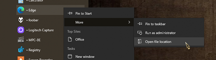 Interesting quirk with Start -> Apps listing of Microsoft Edge-000275.png