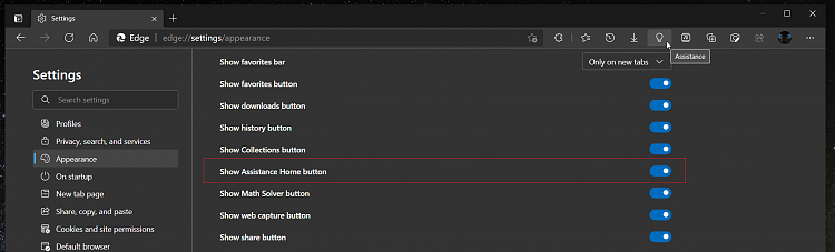 Latest Microsoft Edge released for Windows-assistant-button-settings-crop.png