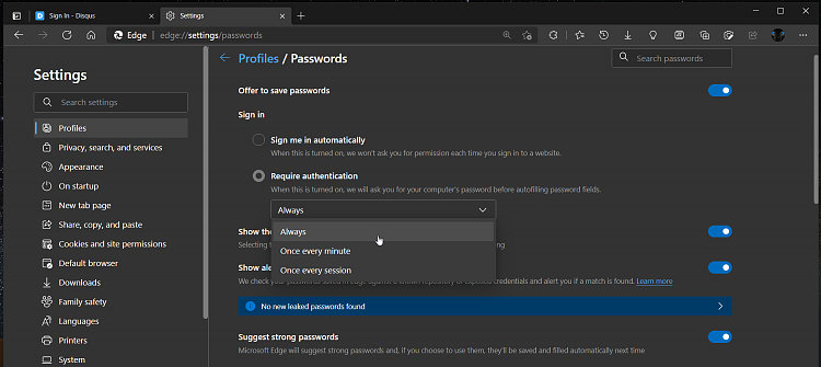 Latest Microsoft Edge released for Windows-requiere-authentication.png