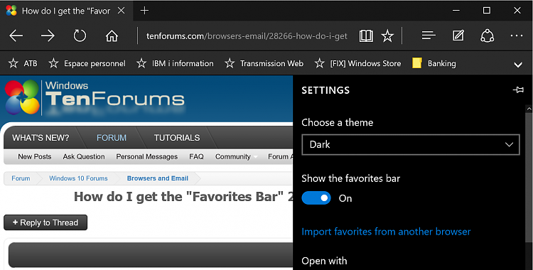 "How do I get the ""Favorites Bar"" 2 display on top of MS EDGE like IE?-capture.png"