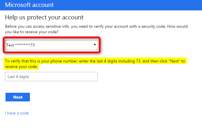 how to change my phone number on microsoft